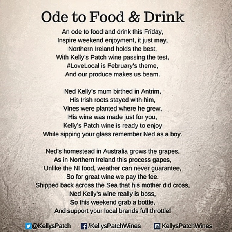 ode poems about food - photo #1